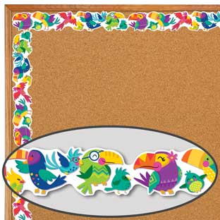 You-Can Toucan Birds Extra-Wide Deco Trim - 1 border trim