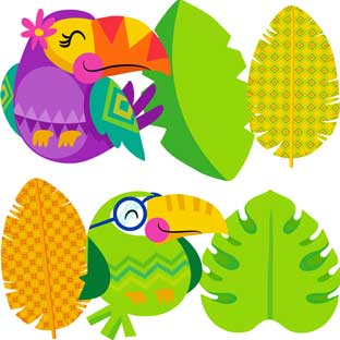 You-Can Toucan Accents Collection - 216 cutouts