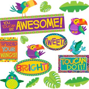 You-Can Toucan Motivational Bulletin Board Kit - 1 multi-item kit