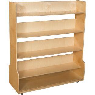 Wood Designs™ Mobile Book Processing Cart - 1 cart