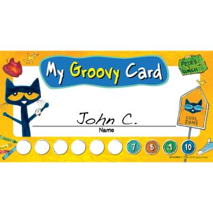 Pete The Cat® Groovy Punch Cards - 60 cards