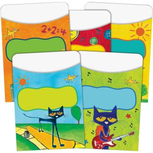 Pete The Cat® Groovy Library Pockets - 35 library pockets