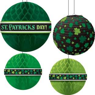 St. Patrick's Day Hanging Bouquet Decorations - 5 decorations