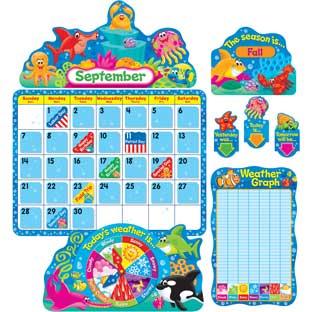 Sea Buddies™ Calendar Bulletin Board Set