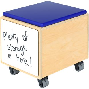 Rolling Seat And Storage Bin