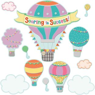 Up And Away Soaring To Success Bulletin Board Set