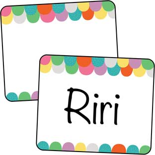 Up And Away Name Tag Labels