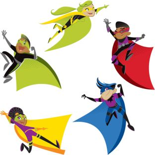 Super Power Super Kids Cutouts