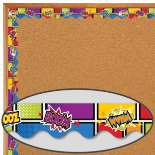 Super Power Bursts Scalloped Border - 1 border trim