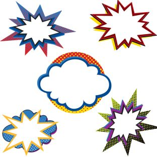 Super Power Bursts Cutouts - 36 cutouts