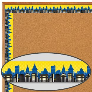 Super Power Skyline Straight Border - 1 border trim