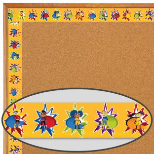 Super Power Super Kids Straight Border - 1 border trim