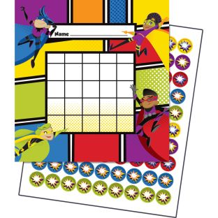 Super Power Mini Incentive Charts With Stickers - 30 charts, 630 stickers