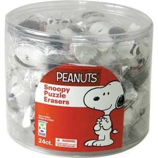 Snoopy Puzzle Eraser - 24 erasers