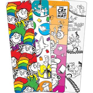 Dr. Seuss Color-Your-Own Bookmarks - 48 bookmarks