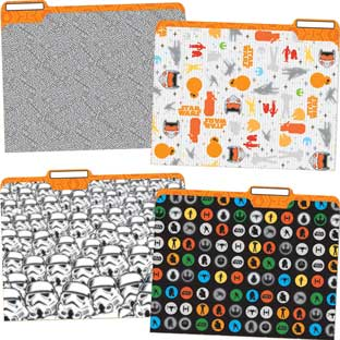 Star Wars File Folders - 12 folders