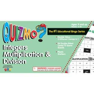 Quizmo Integers Multiplication And Division - 1 game