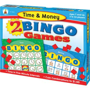 Time and Money Bingo - 1 game