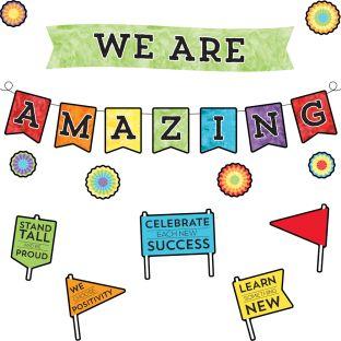 Celebrate Learning We Are Amazing Bulletin Board Set