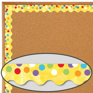 Celebrate Learning Confetti Scalloped Borders - 13 border strips
