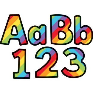 Celebrate Learning Rainbow Stripe Combo Pack EZ Letters