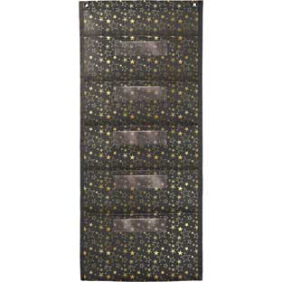 Aim High Gold Stars File Storage 5-Pocket Chart - 1 pocket chart