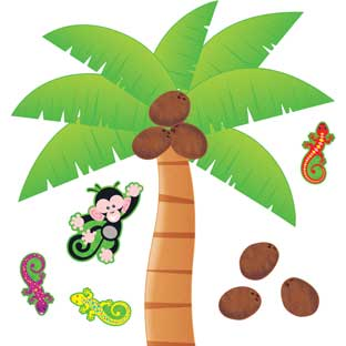 Monkey Mischief® Palm Tree Bulletin Board Set