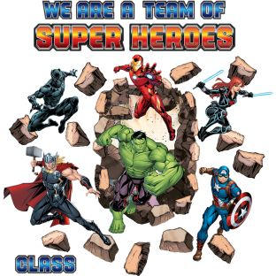 Marvel™ We're A Team Of Superheroes Bulletin Board Set
