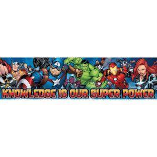 Marvel™ Knowledge Is Our Super Power Horizontal Banner - 1 banner