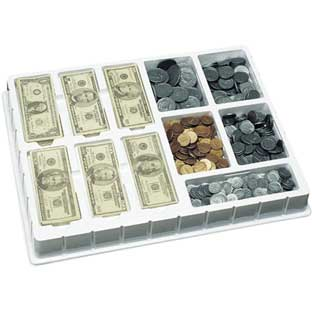 Play Money Coins and Bills Deluxe Set