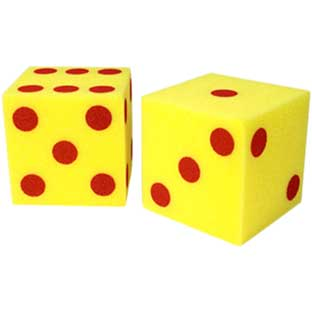 Giant Soft Cubes: Dots - 2 dice