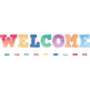 Watercolor Welcome Bulletin Board Set