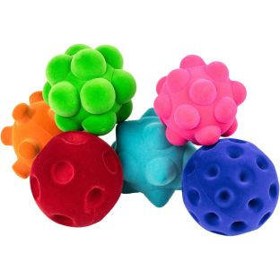 Sensory Textured Ball Assortment - 6 balls