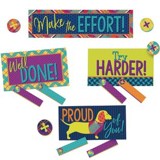 Plaid Attitude Class Management Mini Bulletin Board Set