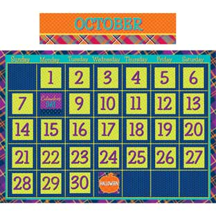 Plaid Attitude Calendar Bulletin Board Set