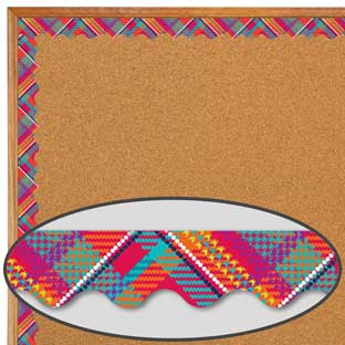 Plaid Attitude Primary Plaid Deco Trim® Extra Wide Diecut
