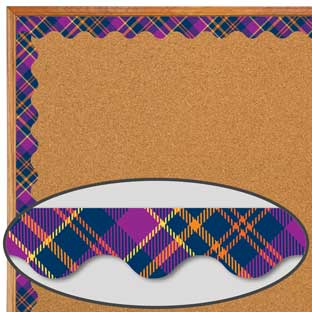Plaid Attitude Purple Plaid Deco Trim®