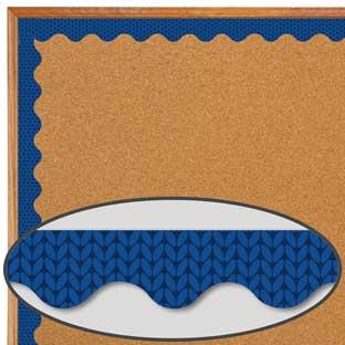 Plaid Attitude Blue Herringbone Deco Trim®