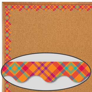 Plaid Attitude Orange Plaid Deco Trim®