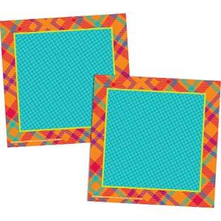 Plaid Attitude Squares Paper Cutouts