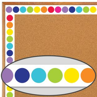 Rainbow Big Dots Straight Borders
