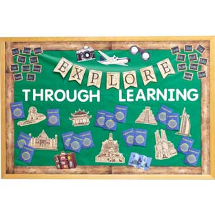 Around The World Classroom Décor Collection - 1 multi-item kit