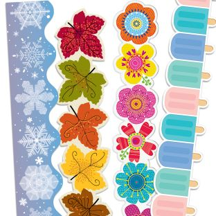Seasonal Border Trim Bundle – 4-Pack