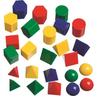 Mini Geometric Solids - 40 pieces