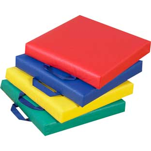 Square Floor Cushions - Primary Set Of 4