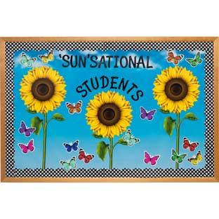 Sunflower And Gingham Bulletin Board Decor Set
