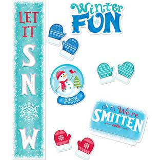 Snow Much Fun! Bulletin Board - 40 pieces