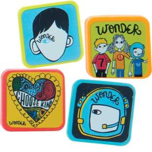 Wonder Square Erasers - 48 erasers