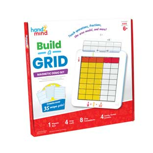 Build-A-Grid, Magnetic Demonstration Grid - 1 grid, 16 grid overlays