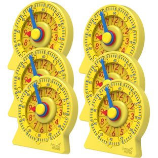 Number Line Clock, Mini Student Clock - Set of 6